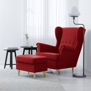 Wing Chair + Leg Rest