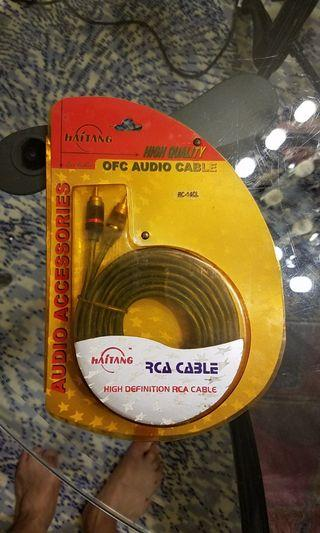高保真名厰RCA 鍍金平衡線 3米 High Definition RCA balanced cable 3M
