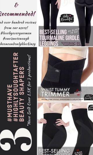 🚚 Black tourmaline long and short Girdle and waist tummy trimmer