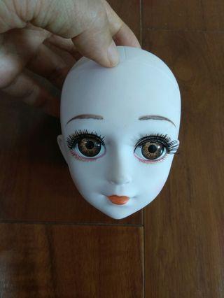 🚚 睫毛是立體的眼睛是3D的娃娃頭(適用身體長加頭總長為60cm素體)