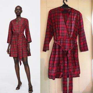 NWOT Zara Plaid Shirt Dress