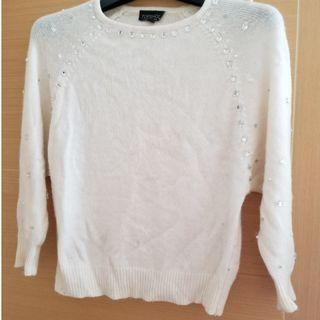 Topshop white knitted sweater