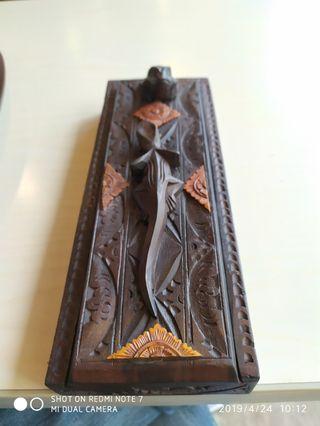 實木老件雕刻髮簪