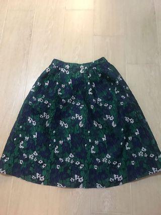 Floral midi skirt from Korea (new)