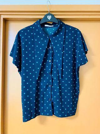 波點襯衫polka dots top