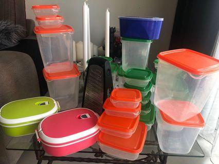 Plastic storage food  and grater