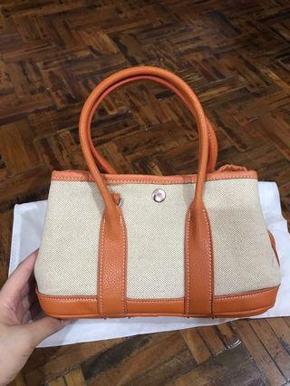 Hermes garden inspired canvas tote bag