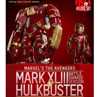 Hot Toys Avengers Age of Ultron: Hulkbuster & Mark XLIII (戰損版) Artist Mix Figures Deluxe Set Designed by Touma