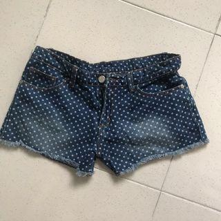 JusTees Polka Denim Shorts