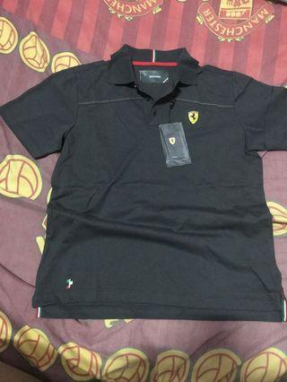 Baju Polo Shirt Ferrari Official Grey