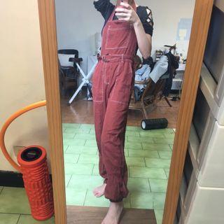 🚚 Forever21 磚紅色吊帶褲 #半價衣服拍賣會