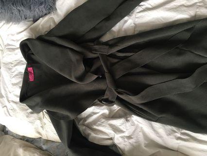 Boohoo Dark Green Coat