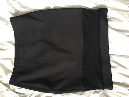 Black Pencil Skirt with Mesh