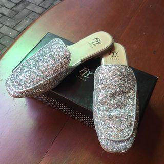 Fly Glitter Mules