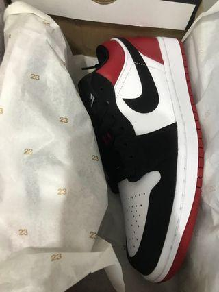 Nike Air Jordan 1 Low Black Toe 低筒 黑頭