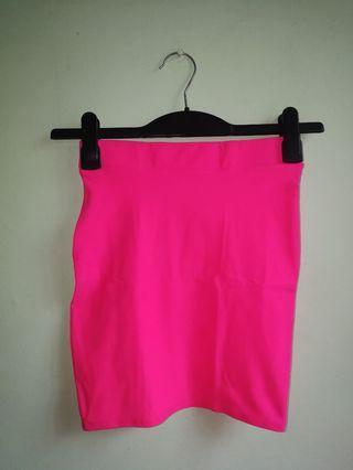 MINT Neon Pink Skirt