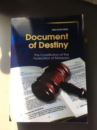 Document of Destiny (Constitutional Law)