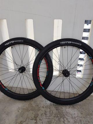 Alexrim boost 29er 29 inch new 15x110 12x148 Wheelset with wtb tires inner tubes