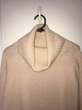 Peach turtleneck knit
