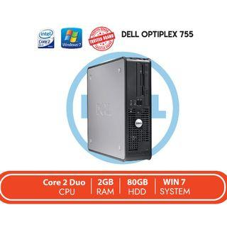 CPU DELL Optiplex 755 REFURBISH / Core 2 Duo / 2GB RAM / 80GB HDD
