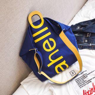 Women Korean Fashion Wild Style Chic Canvas Messenger Shoulder Bag [Black/Blue/Khaki/White]