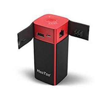 (E1172) HooToo Wireless Travel Router, FileHub, 10400mAh External Battery, USB Port, High Performance Travel Charger - TripMate Titan 300Mbps (Not a Hotspot)