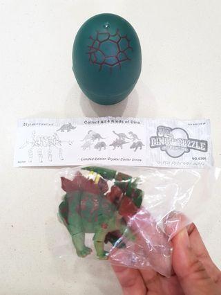 3D Dino Puzzle in Jurassic Egg - Stegosaurus
