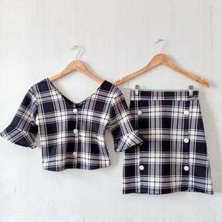 Plaid Top and Skirt Coordinates