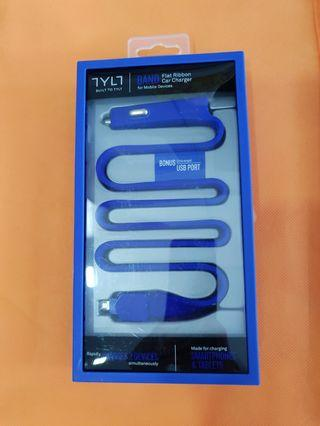 Brand New TYLT Flat Ribbon Car Charger for mobile charger