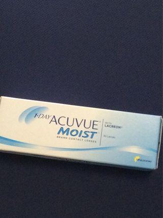 1 Day Acuvue Moist con 隱形眼鏡