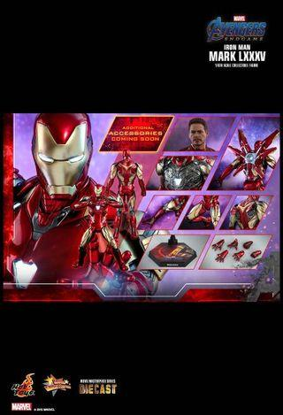*PO* Hot Toys Iron Man Mark LXXXV Sixth Scale Collectible Figure Tony Stark/Iron Man in Avengers: Endgame mark 85 Authentic and detailed likeness of Iron Man in Avengers: Endgame