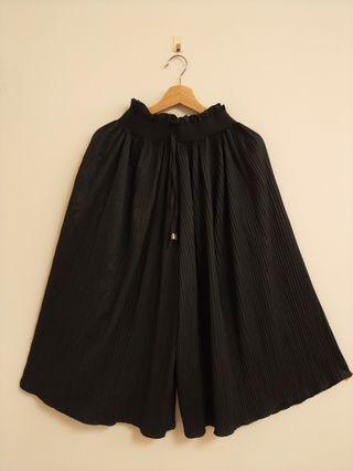 綁帶百摺寬褲裙