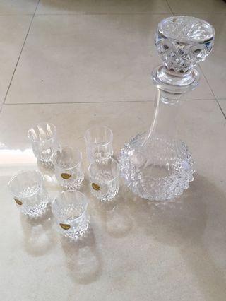 玻璃器皿(水晶酒杯連酒樽)