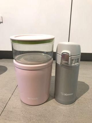Thermal flask & containers on the go