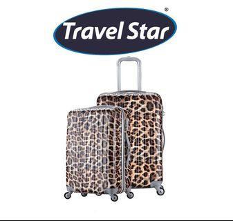 Travel Star Leopard Luggage (20' + 24')