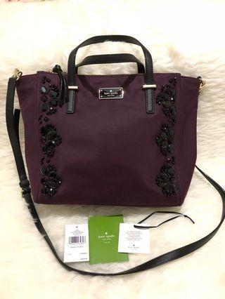Kate Spade Alyse Wilson Embelished Deep Plum