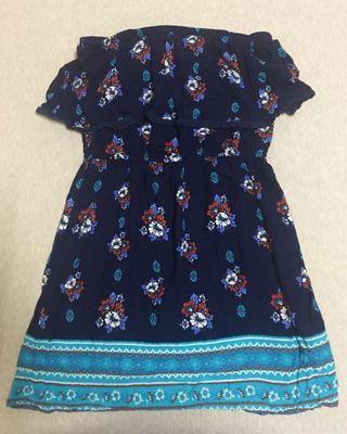 Off shoulder floral dress 抹胸碎花连衣裙