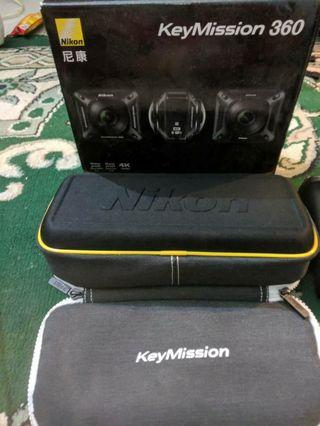 almost new nikon 360 action cam