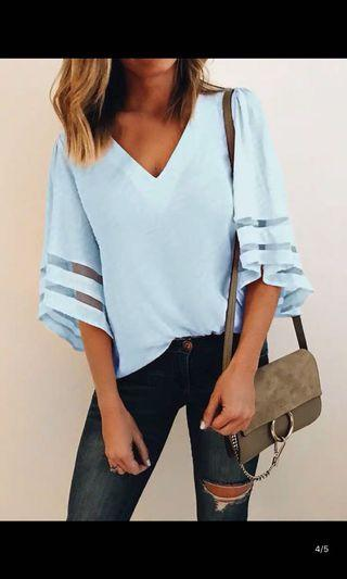 (NEW) Blue Blouse