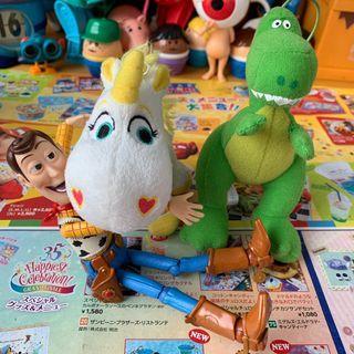玩具總動員 絨毛 玩具 小奶油 抱抱龍 TOYSTORY  迪士尼 皮克斯 動畫 2隻入/組