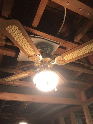 Brass detail ceiling fan