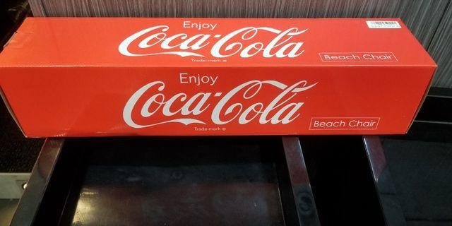 全新Coca Cola紅色沙灘櫈(只有1張)
