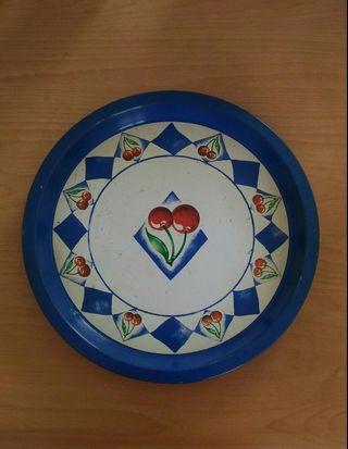 🚚 古早法瑯漆水果盤一直徑33公分