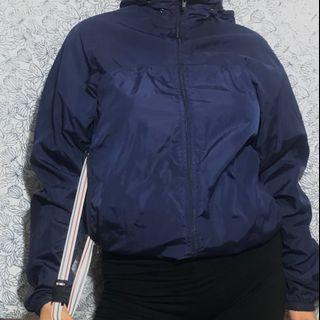 Vintage American Apparel Wind Breaker with secret compartment detail and hidden hood
