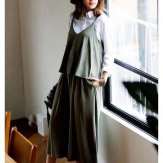 Uniqlo 連身褲  墨綠L 降價售 可小議價