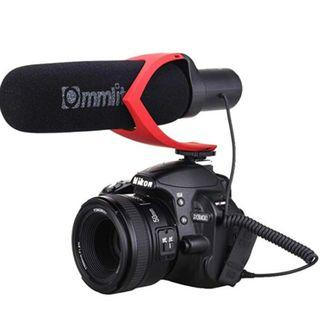 (E1184) Comica CVM-V30 Shotgun Camera Microphone Super-Cardioid Directional Condenser Photography Interview Lightweight Video Microphone for Nikon DSLR and Fit 3.5mm Port Canon Cameras(Black)