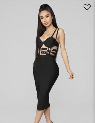 Fashionnova Bandage Buckle Midi Dress