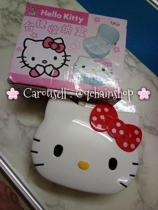 [READY STOCK] Hello Kitty Make Up Cosmetics Storage Box With Mirror