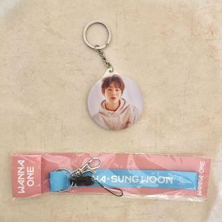 [SUNGWOON COMBO] Wanna One Ha Sung Woon Lanyard Phone Strap Keyring Keychain