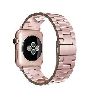 (E1193) Simpeak Stainless Steel Band Strap Compatible Apple Watch 38mm 40mm Series 1 Series 2 Series 3 Apple Watch 4 - Rose Gold